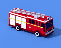 Low Poly Fire Machine