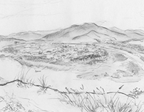 Landscape Sketches in travel