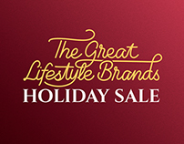 The Great Lifestyle Brands Holiday Sale: Logo & Poster