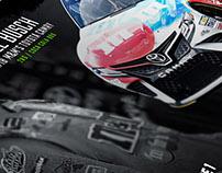 Kyle Busch Pre / Post race graphic