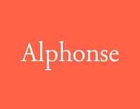 Alphonse | Custom Typeface
