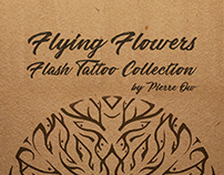 Flying Flowers - Flash Tattoo Collection