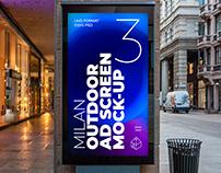 Milan Outdoor Advertising Screen Mock-Ups 2