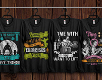 Gym T-shirts Design Bundle