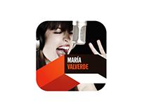 Diseño App Móvil de la cantante Maria Valverde