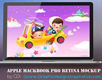 Free MacBook Pro Retina Mockup