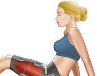 Muscle Stimulation Garment Diagram
