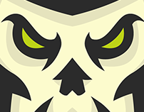 Pirate Skull Mascot Logo, for sale,