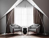 - Montevil - Attic - Guest bedroom and bathroom -