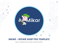 Mikar - Repair Shop PSD Template