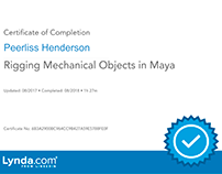 Rigging Mechanical Objects in Maya (Certificate)