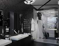 Bathroom 'The couple in black' - г.Киев, Печерск