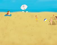Creative Blitz Beach Background 2