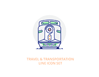 Line Icon Set | Travel + Transportation