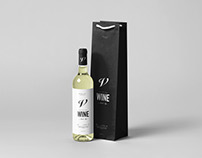 Wine Bottle & Bag Mock-up