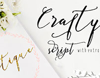 New Cover for Crafty Script Modern Calligraphy Font