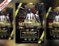 PUBG Tournament Flyer PSD Template