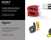 Typographic Collectible Product Design