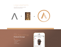 Client: AZURO WOODS - Wood Watches Logo & App Prototype