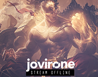 Twitch Chanel - Lee sin, League of Legends (Fake art)