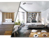 3D Visualisation Interior Before/After