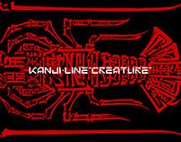 """KANJI-LINE""""CREATURE""""001-005"""