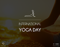 International Yoga Day | Infinite line Iconography