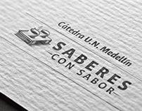 Identidad visual Saberes con Sabor Cátedra U.N.