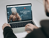 Free Person Working on MacBook Pro Mockup