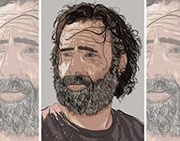 Rick Grimes Digital Illustration (Updated)