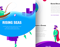 Environmental Infographic Landing Page
