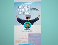 Reach Your Dream Banner Design