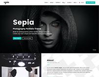 Sepia - Photography Portfolio HTML Website Template