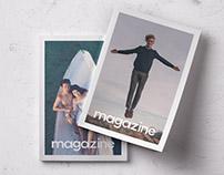 Free Double Overhead Magazine Mockup