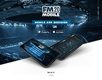 FM20 - UX/UI Redesign - Football Manager Game