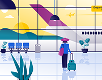 Amsterdam Airport Schiphol — Branding Illustrations