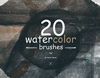 [FREE] Watercolor - Photoshop Brushes