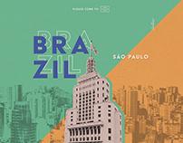 Poster - São Paulo - Please come to Brazil!