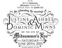 Minns Ashbee Wedding Invite