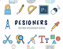 Designers Vector Free Icon Set