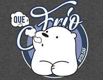 Que Frio Ice Bear Hoodie