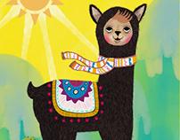 Sunrise llama