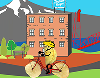 #NationalBicycleMonth Animation