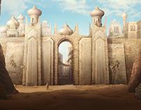 Desert. Game background