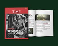 Re-design of TIME Magazine