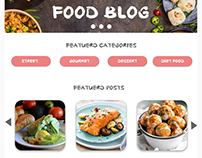 Food Blog Design By DP