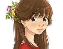 Portrait a girl