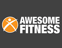Awesome Fitness branding