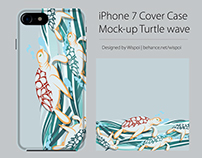 Iphone 7 Cover Case Mock-up Turtle wave