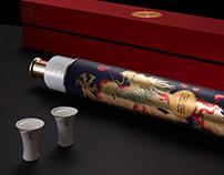 国馆酒—龙纹卷轴